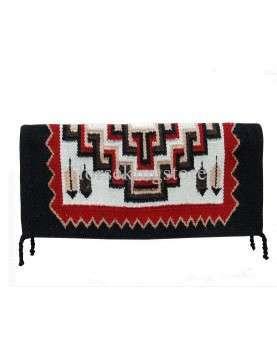 Wool saddle blanket Kokopelli