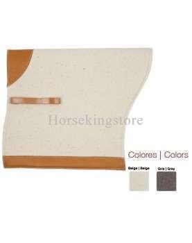 Zaldi Felt saddle pad for Portuguese saddle
