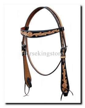 Leather Headstall Draly