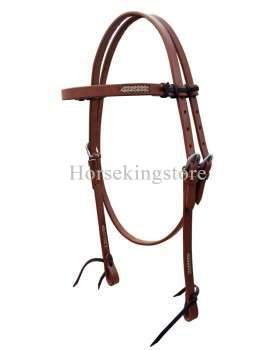 Leather Headstall with Rawhide Berthus