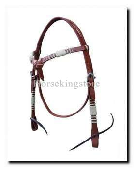 Leather Headstall with Rawhide Opul