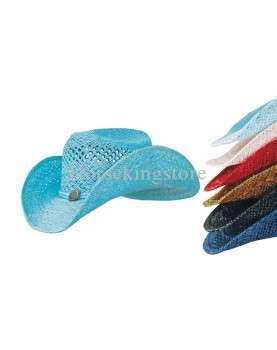 Western Colored Hat Woman