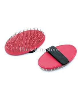 Grooming comb with metal pins
