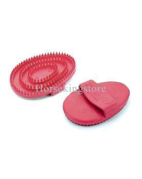 Rubber oval curry comb