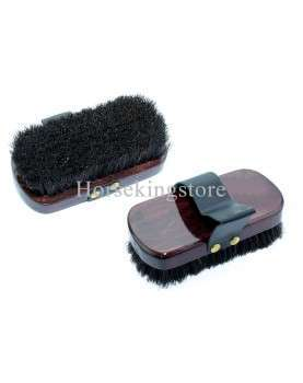 Body brush with wooden handle
