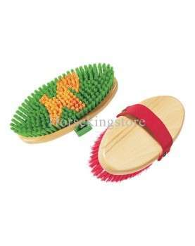 Body brush type Horse with wooden handle