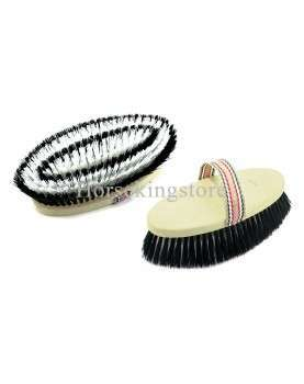 Body brush with synthetic bristles