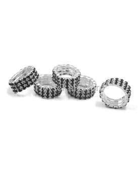 Crystal braided ring sold in bag of 20 pieces