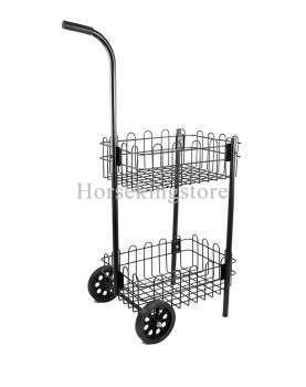 Metal basket push cart