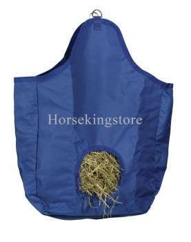 Canvas hay bag with hanging rings