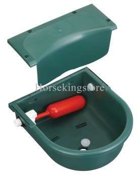Constant water level drinking bowl with float