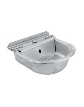Galvanized constant water level drinking bowl with float