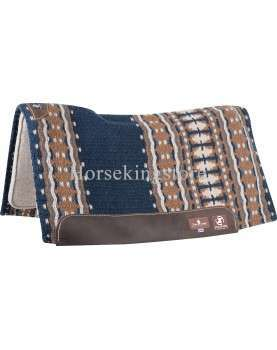 """ZONE™ WOOL TOP 34""""X38"""" Classic Equine 1"""" Navy Camel"""