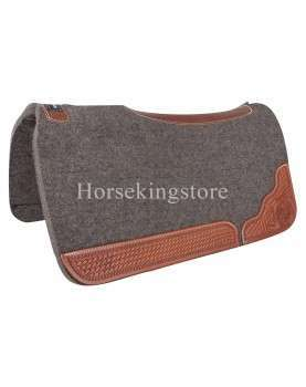 """100% FELT WITH TOOLED WEAR LEATHERS  3/4"""" Classic Equine"""
