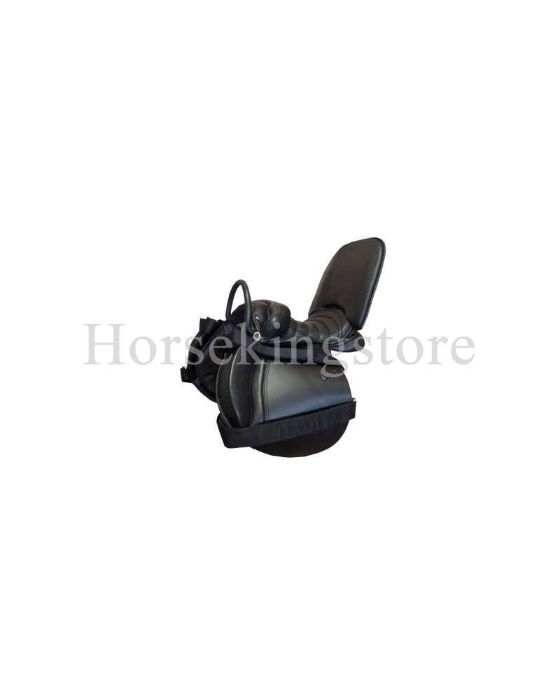 Saddle for person with a handicap in equitherapy