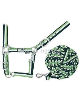 Halter with leather White - Green