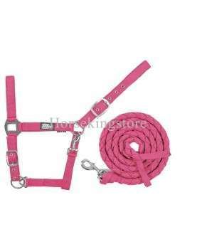 Halter with leather Pink