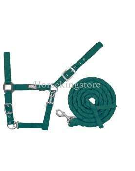 Halter with leather Hunter Green