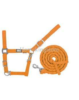 Halter with leather Orange