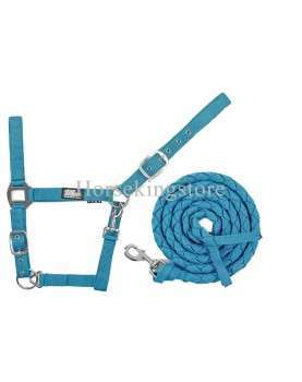 Halter with leather Turquoise