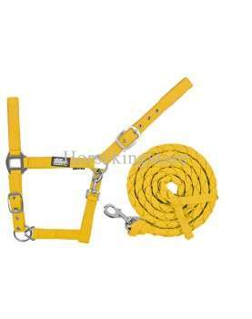 Halter with leather Yellow