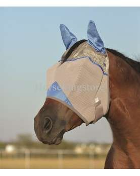 WOUNDED WARRIOR WHITE EARS CRUSADER FLY MASK Cashel