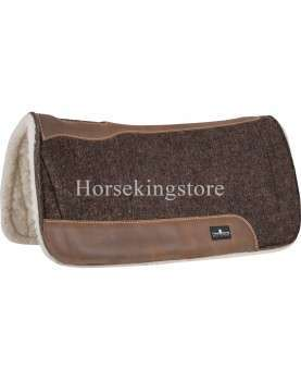 "Pad Classic Equine Blended Felt 3/4""/Fleece BROWN 31 x 33"
