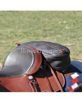Leather Cantle saddle bag...