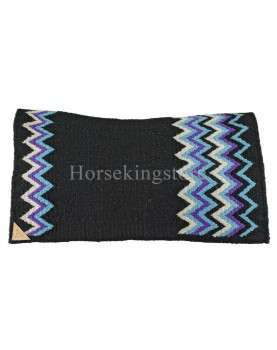 Wool saddle Pool's Blanket Star Shox Black Blue...