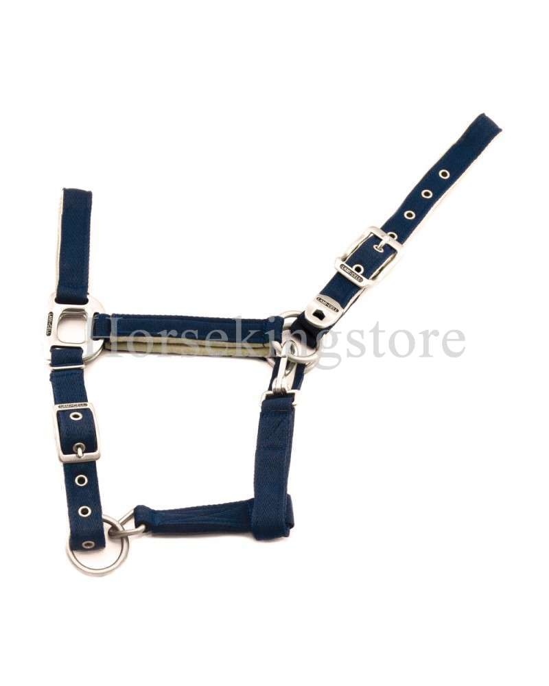 Halter with leather